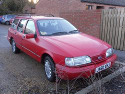 Sierra 1.8GL Estate. A good work horse if a little under powered.