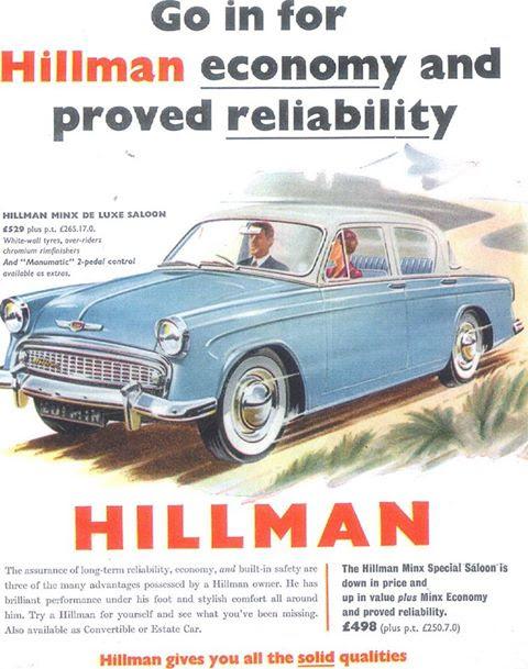 Hillman Minx poster