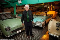 Rodger Dudding the biggest collector of classic cars in the UK.  He owns 350 vehicles