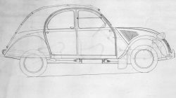 Citroen 2CV post war re-design