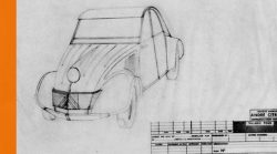 2CV Drawing of early prototype – circa 1935