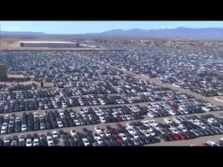 Volkswagen's car 'graveyard' in California – BBC News – YouTube 2018