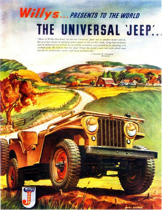 1946 Willys Jeep advertising
