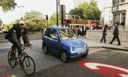 Electric cars can catch pedestrians and cyclists unawares.-The Guardian