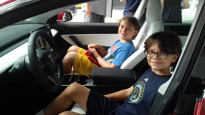 Alex and and Dylan try a 2018 Tesla Model S for size!