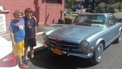 The boys and a 1966 Mercedes 280SL