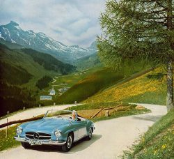 The 190 SL offers comfortable and stylish travel and is often used for weekend-trips such as to  ...