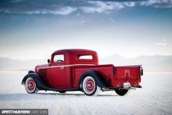 Classic Ford Pickup Truck on salt flats