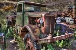 "Peter Dulis's picture of a 1936 Corbitt truck: ""I found this beauty in a ghost town  ..."