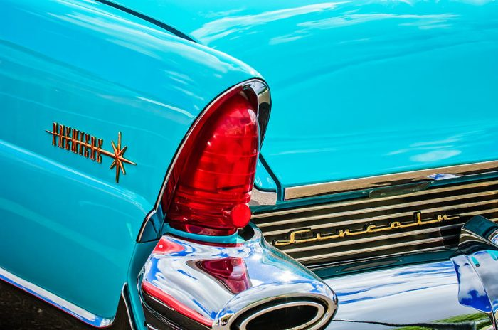1956 Lincoln Premiere Taillight Emblem -0887c by Jill Reger