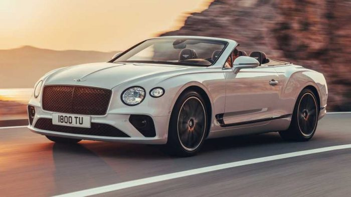 2019 Bentley Continental GT Convertible Debuts With 207-MPH Top End