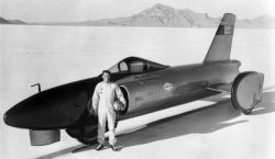 Craig Breedlove with Spirit of America at Bonneville, 1964. (Courtesy Craig Breedlove)