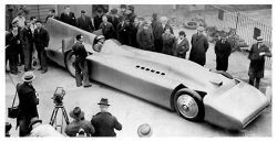 1935 Campbell-Railton Blue Bird at Daytona Beach 1935 –  Internal combustion