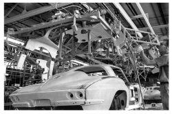 Split Window roof drop… St. Louis Corvette Assembly, 1963