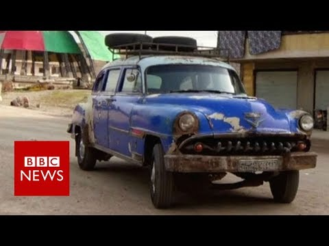 The 1950s car turning heads in Syria – BBC News – YouTube