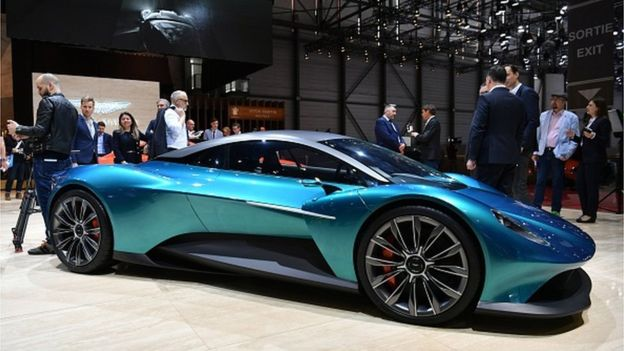 2019 Aston Martin Vanquish Vision, at the Geneva Motor show –  200-mph!