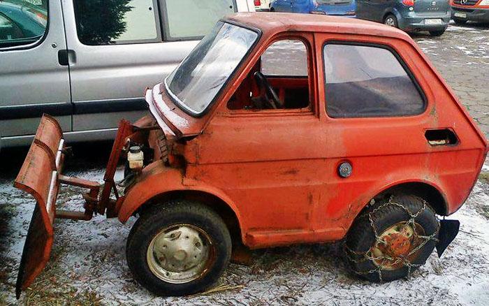 Micro Snow Plow – Fiat 126 ??