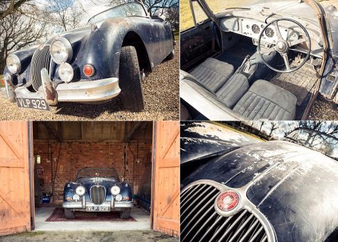 67th Jaguar XK150 built – uncovered in a barn