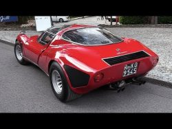 1968 Alfa Romeo 33 Stradale: 2.0 V8 Engine Sound, Warm Up & Driving! – YouTube