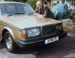 My late father with my rare,1978 Volvo 265 GLE. Under the green tarp: my dad/grandad's equ ...