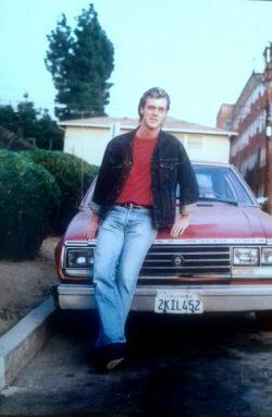 Me with my 1981 AMC Spirit, Hollywood, CA, 1992