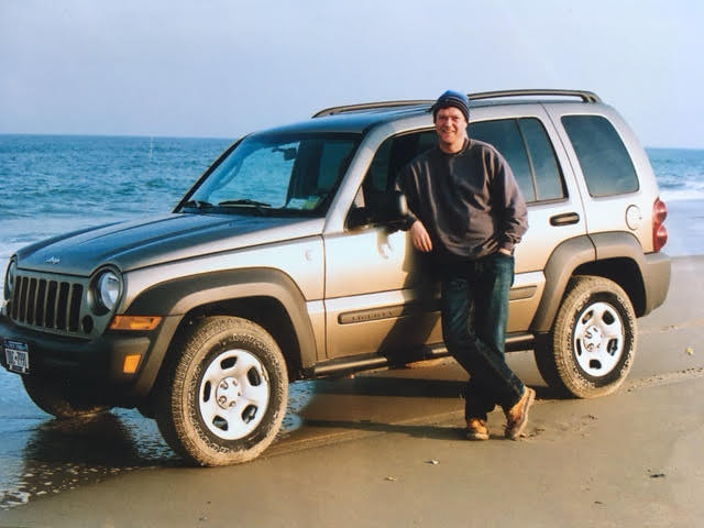 Me with (rented) 2004 Jeep Liberty, Outer Banks, NC, USA, February, 2006